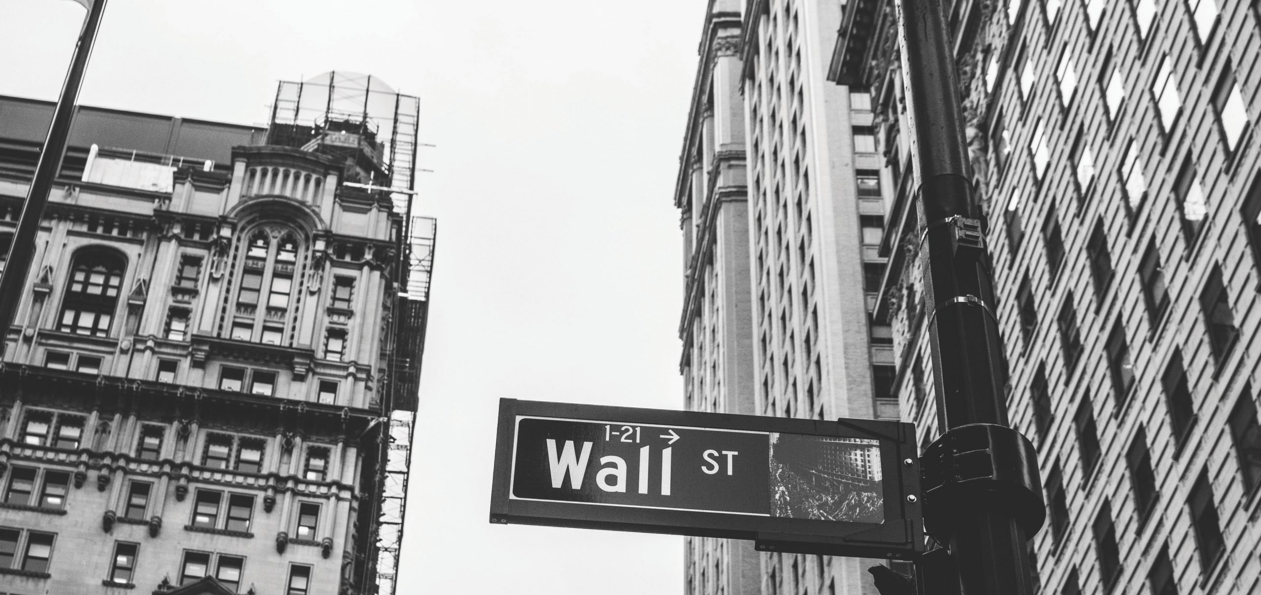 Sign Of Wall Street In New York City