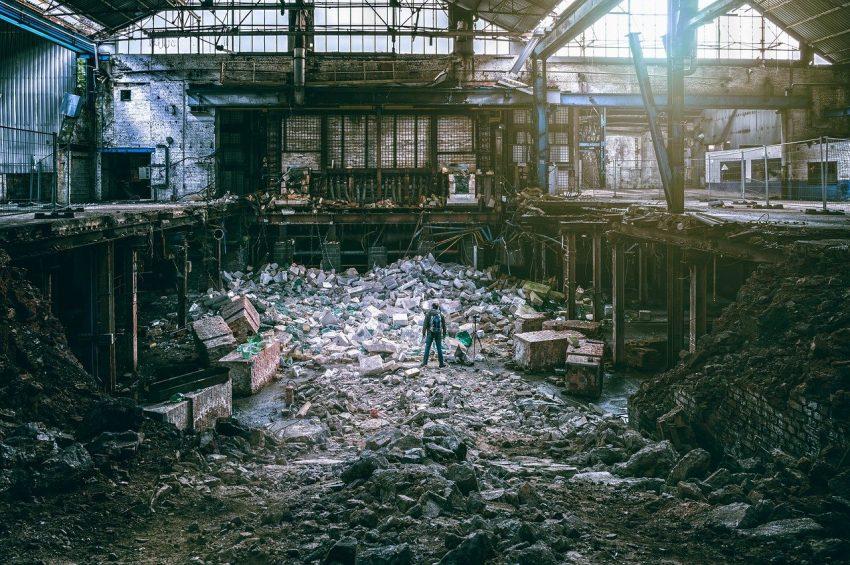 Desolate factory