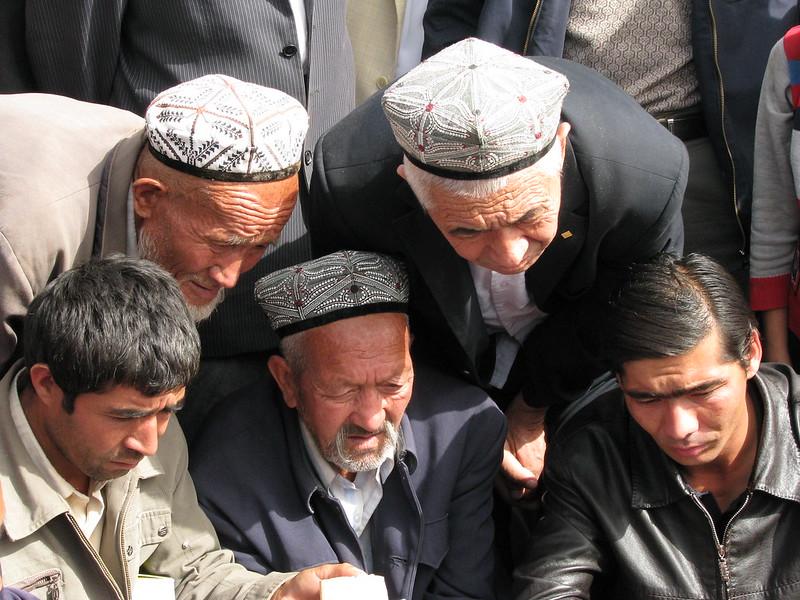 Uighurs in the market in Khasgar, china.