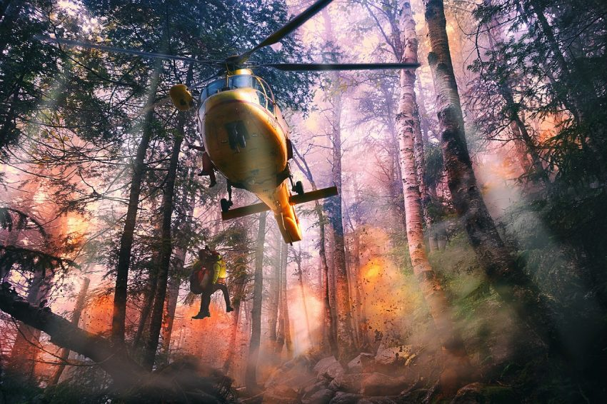 Rescue from a wildfire